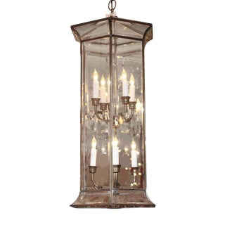 Eight Light Six-Sided Beveled Glass Lantern