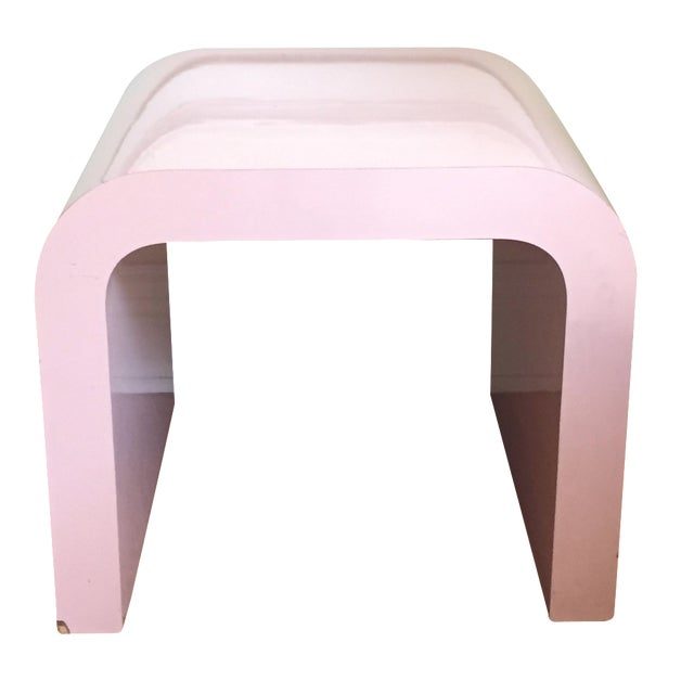 Vintage Pink Waterfall Side Table - Image 1 of 4