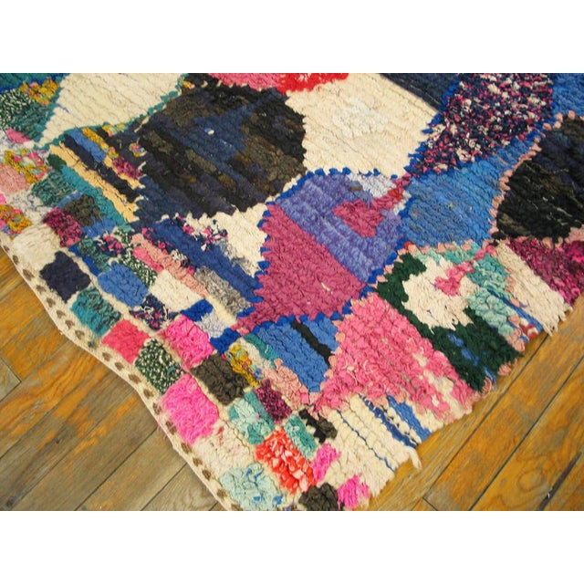 "Traditional Moroccan Boucherouitte Rug - 4'2"" x 6'6"" - Image 5 of 5"