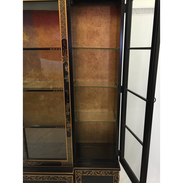 Vintage 1980s Drexel Heritage Asian Chinoiserie China Cabinet - Image 7 of 11