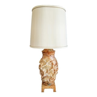 Marbro Hand-Carved Alabaster Lamp