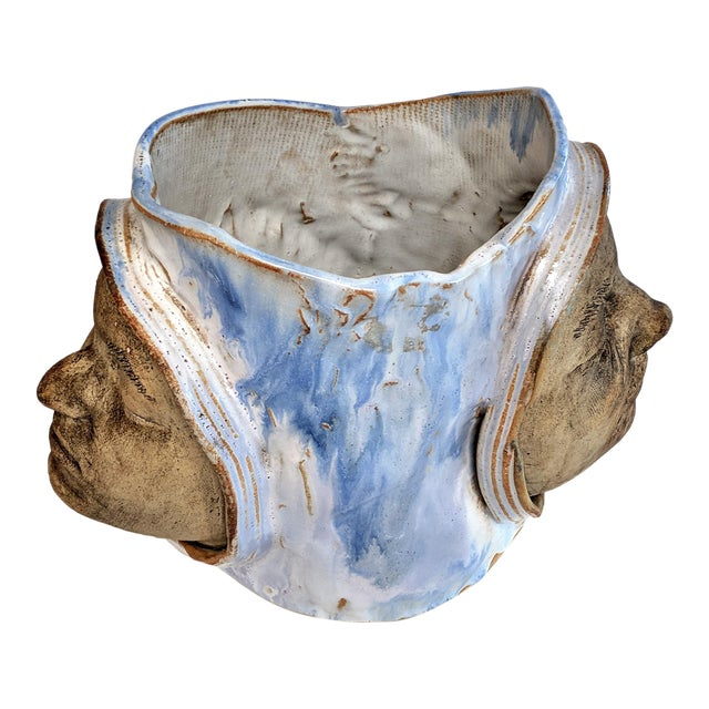 1970 Double Faced Pottery Planter - Image 1 of 10