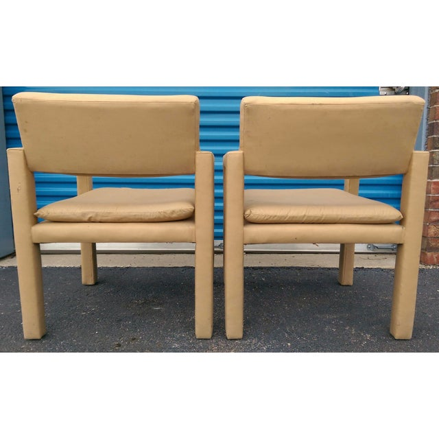 Milo Baughman & Thayer Coggin Parsons Arm Chairs - A Pair - Image 5 of 10