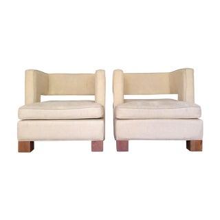 Vintage Club Chairs - Pair
