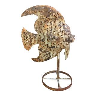 Vintage Metal Fish Sculpture