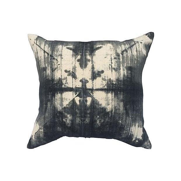 Vintage Grey Tye Dye Mud Cloth Pillow - Image 1 of 4