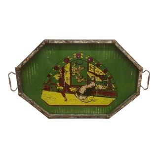 Vintage Oriental Distressed Tray