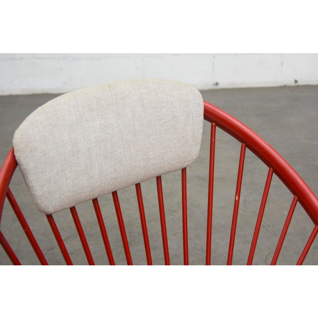 Swedish Red Hoop Lounge Chair - Image 7 of 11