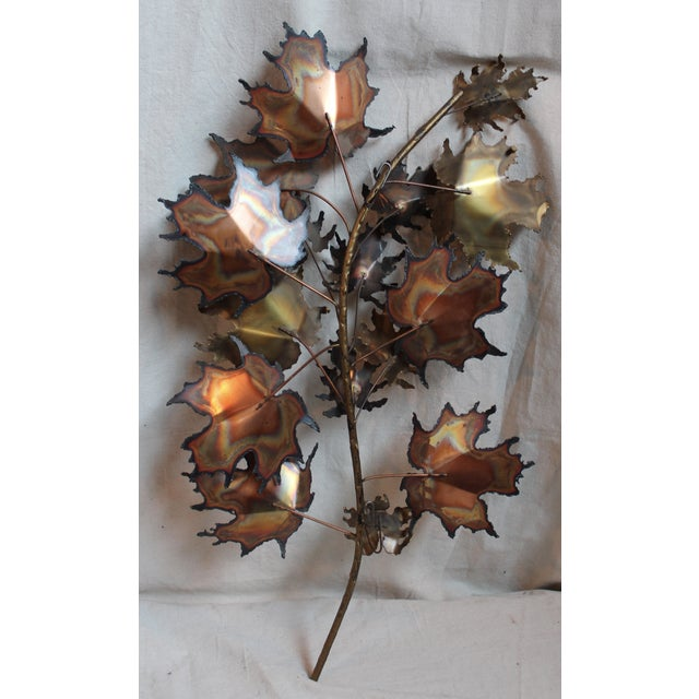 Curtis Jere Autumn Leaves Wall Sculpture - Image 5 of 6