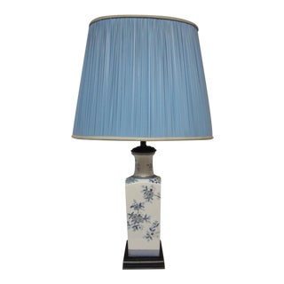 Vintage Asian Blue & White Table Lamp