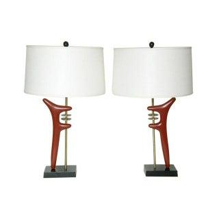 Pair Sculptural Table Lamps