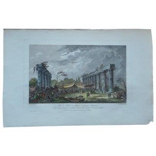 Antique Temple Ruins Metapontum, Greece Print