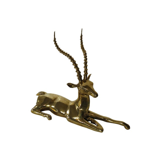 Tall Solid Brass Ibex - Image 3 of 6