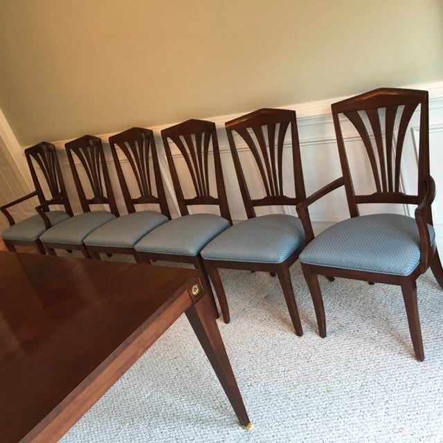 Ethan Allen Medallion Collection Table Amp 6 Chairs Chairish
