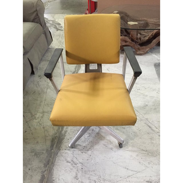 Vintage Yellow Office Chair - Image 4 of 7