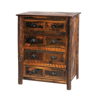 Barn Wood Four-Drawer Chest