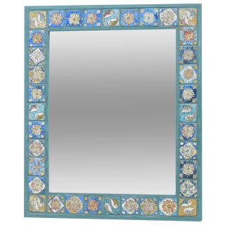 Hand Painted Persian Tile Mirror