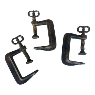 Antique Cast Iron Decorative Clamps - Set of 3