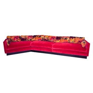 Mid Century Modern Milo Baughman Style Sectional Sofa