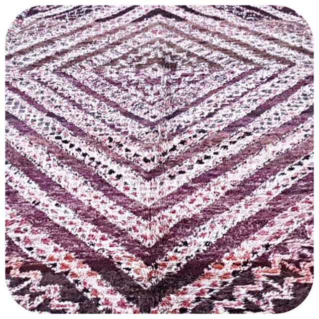 Moroccan Beni Ourain Rug- 6′4″ × 13′ - Image 3 of 4