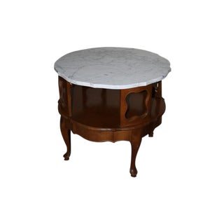 Vintage 1960s Italian Marble Top Side Table