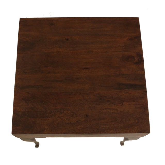 Image of Wooden Square Accent Table