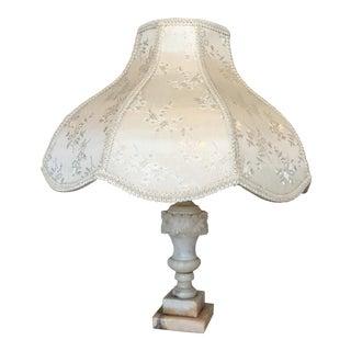 Carved Alabaster Marble Lamp