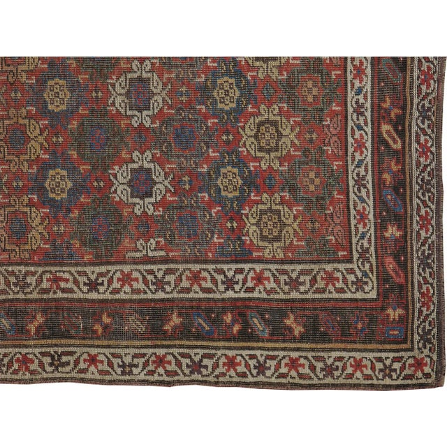 "Antique Persian Distressed Rug - 3'10"" X 6'6"" - Image 4 of 4"