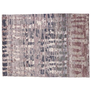 Contemporary Moroccan Style Rug with Abstract Design - 10' x 13'10