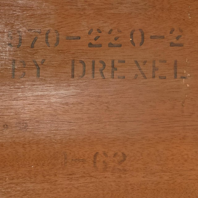 60s Drexel Caned Front Hutch on Hairpin Legs - Image 8 of 8
