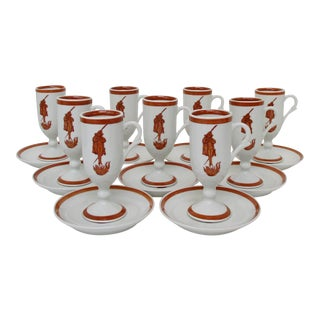 Carr China Espresso Cups w/ Saucers -18 Pieces