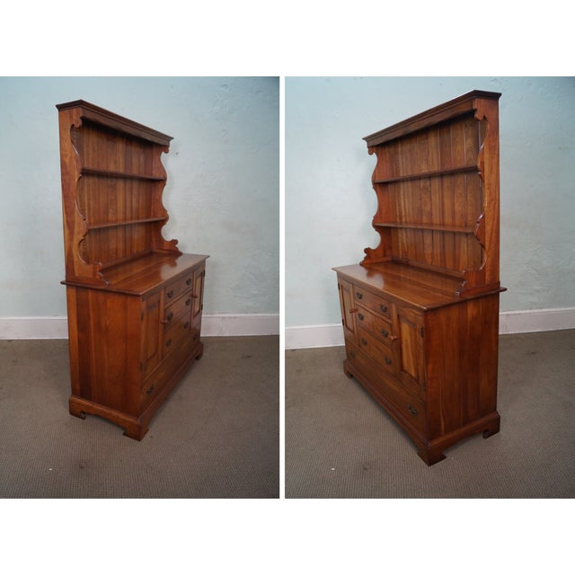 Image of Stickley Vintage Cherry Open Hutch Cupboard
