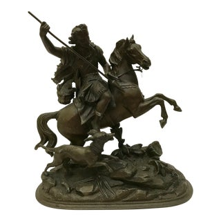 Antique French Spelter Statue