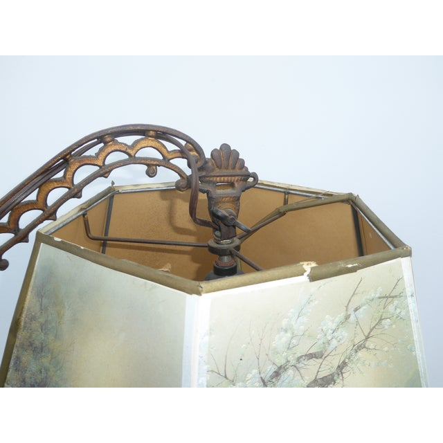 Antique Andres Orpinas Victorian French Country Metal Floor Lamp - Image 5 of 10