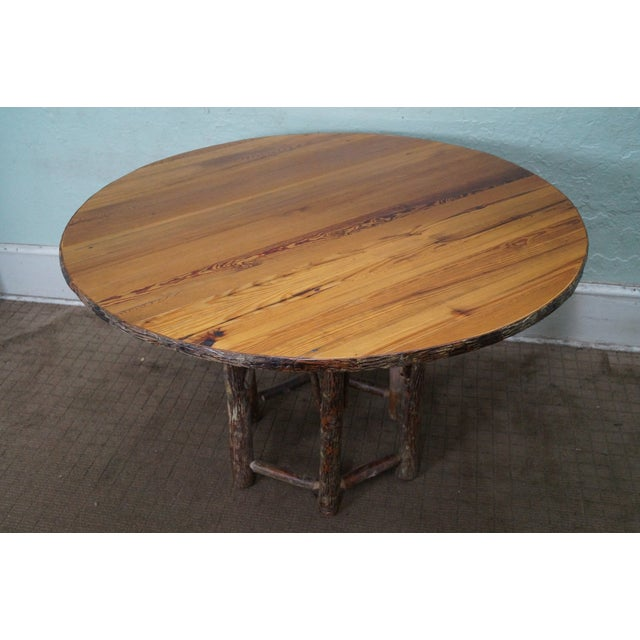 Old Hickory Rustic Tree Form, Round Dining Table - Image 2 of 10