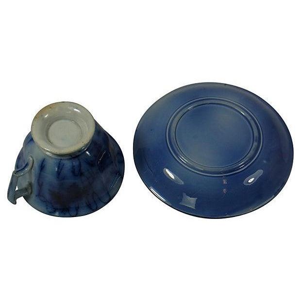 Image of Flow Blue Villeroy & Boch Cup & Saucer