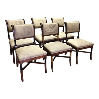 Wooden Ornate Dining Chairs - Set of 6