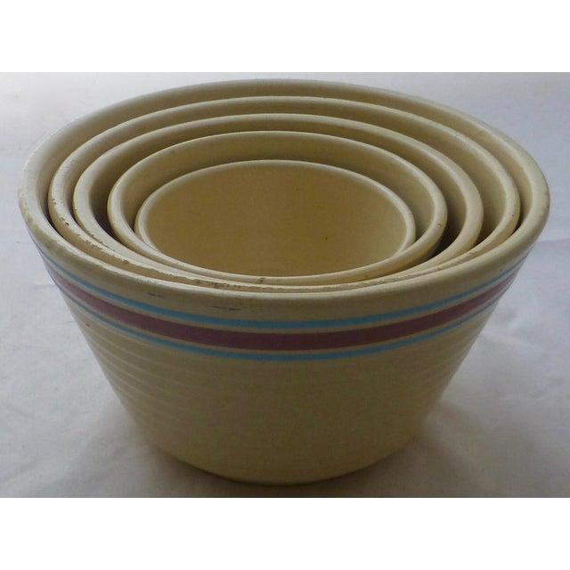 Antique Watt Nesting Mixing Bowls - Set of 5 - Image 8 of 9