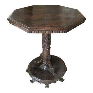 18th Century Octagonal Side Table, Bologna, Italy, 1720c