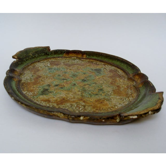 Florentine Gesso And Wood Tray - Image 5 of 8