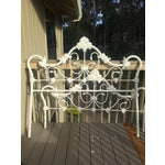 Image of Antique Victorian White Enamel Queen Bed