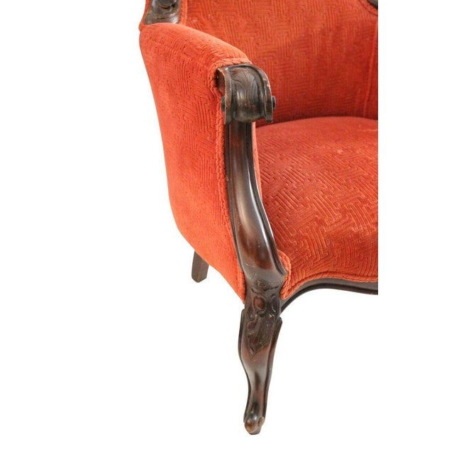 Image of Crimson Club Chairs - A Pair
