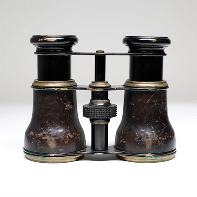 19th Century French Leather Wrapped Opera Glasses - Image 4 of 6