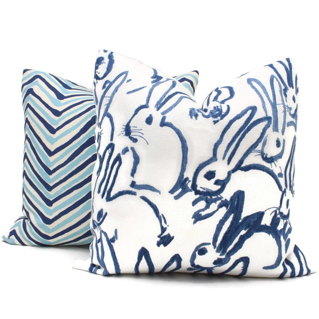 Lee Jofa Groundworks Hutch Blue Bunny Pillow - Image 4 of 5