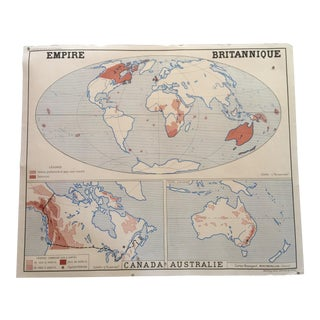 Vintage French World Map