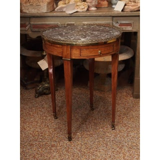Bouillotte Table with gray marble top