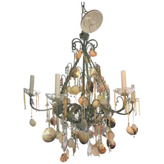 Sea Shell & Crystal Chandelier