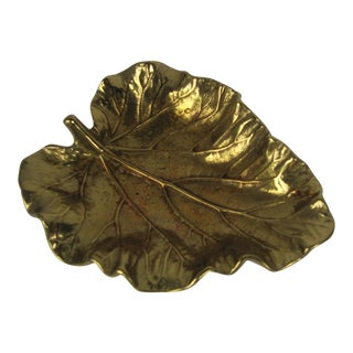Virginia Metalcrafters Rhubarb Leaf Catchall
