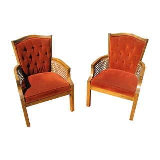 20th Century French Walnut Arm Chairs