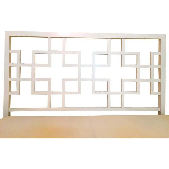West Elm Overlapping Squares Headboard Frame Chairish